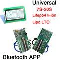 DYKB умный дисплей 7S до 20S Lifepo4 литий-ионный аккумулятор лто защита BMS Bluetooth APP 400A 300A 100A 80A 10S 13S 14S 16S