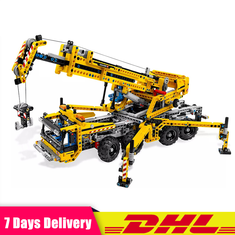 IN Stock Lepin 20040 Technic Mechanical The Moving Crane Educational Building Blocks Bricks Toy Model Compatible LegoINGlys 8053 pandadomik construction crane truck 678pcs building toy bricks car model blocks legoinglys technic educational toys for children