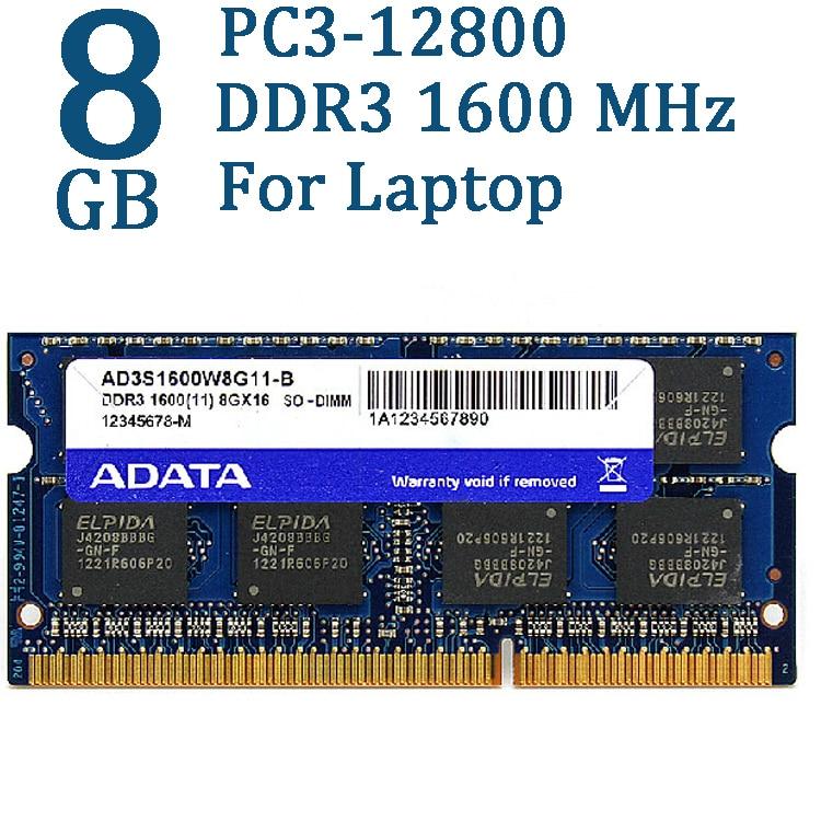 Память для ноутбука ADATA, DDR3 DDR3L 2 ГБ 4 ГБ 8 ГБ 1600 МГц, SO DIMM 204 pin 1600 1333 для Lenovo ThinkPad HP 1,5 В