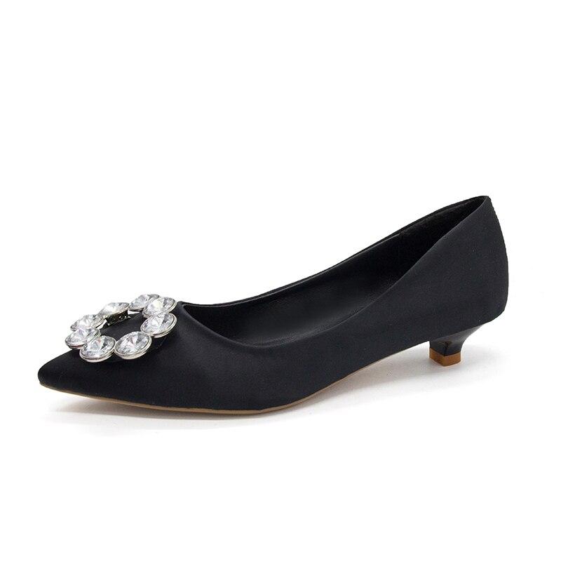 De Coreana Zapatos Strass Versión Tacones Baja 2018 Beige Del azul Trabajo Casual Mujer Boca negro rojo Bajo Tacón Salvaje Stiletto Nuevos Altos qZXxww5E