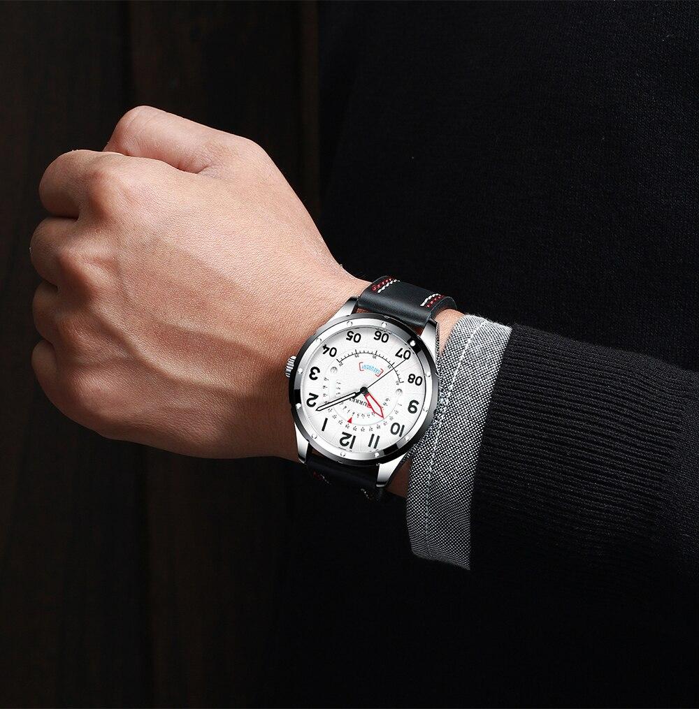 HTB1TxVsaxv1gK0jSZFFq6z0sXXa5 CURREN Date Mens Watches Luxury Sport Watch