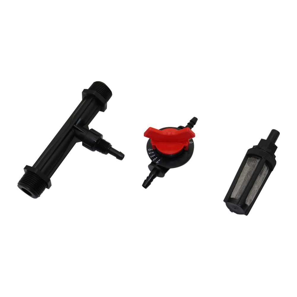 Agriculture Venturi Fertilizer Injector With 1/2, 3/4 Inch Male Thread, 4-speed Flow Control Valve, Water Filter Kit 1 Set