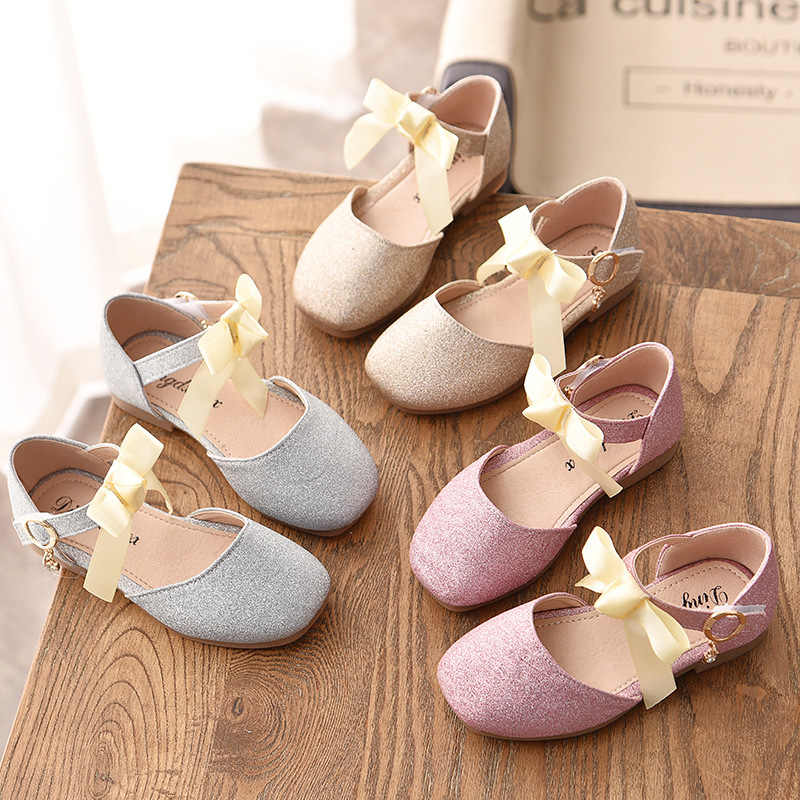 2020 Kids Girls Princess Soft Soles Mesh Bow-knot Party Wedding Dress Shoes