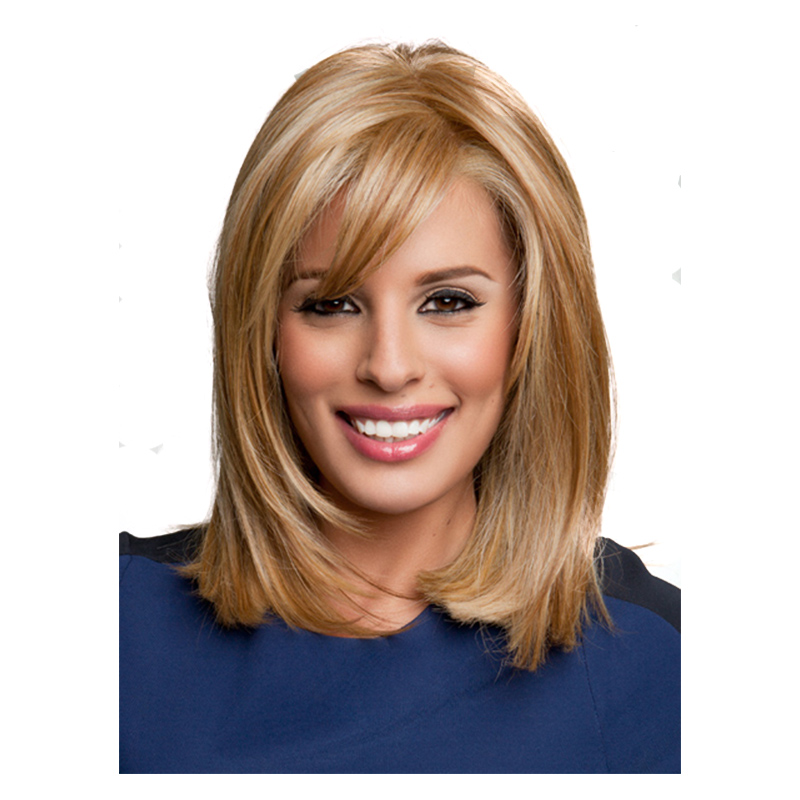 14inch Womens Short Blonde Hair Wigs Short Kinky Straight Natural
