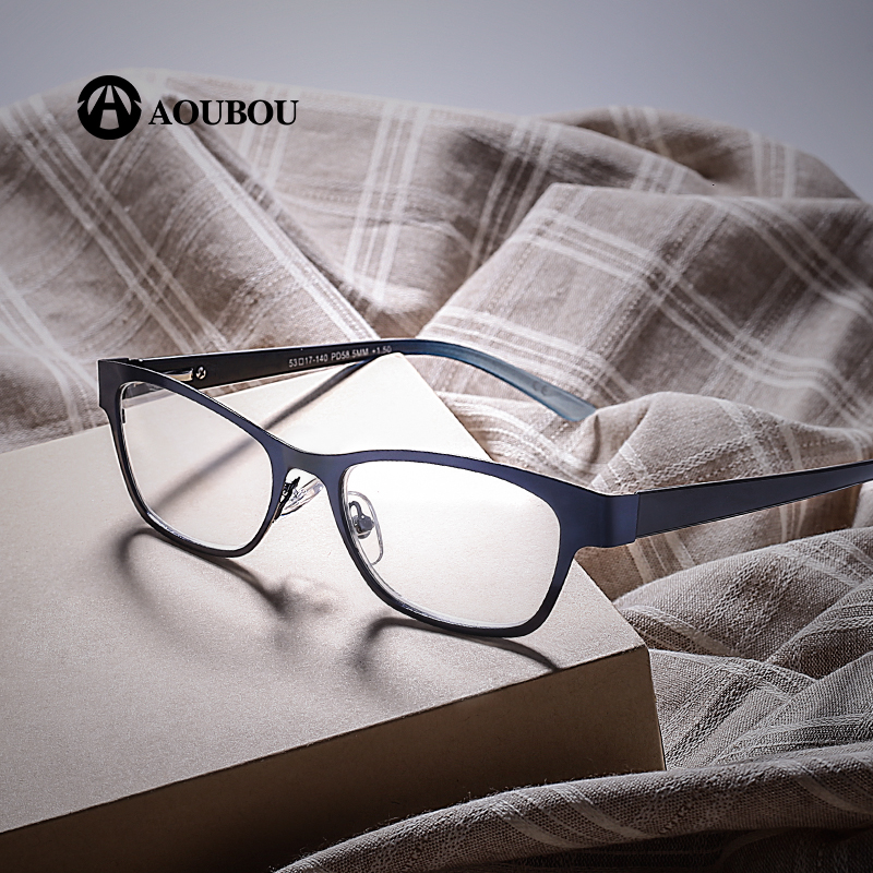 Blue Vintage Women Reading Glasses High Clear Lens Glass Full Frame Glasses Gafas de lectura de las mujeres AB003