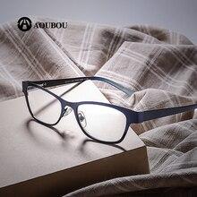 Gafas de lectura de estilo Vintage para mujer, anteojos de lectura con lentes transparentes, de cristal, con marco completo, AB003