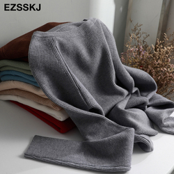 casual basic autumn winter thick Sweater Women long sleeve o-neck Soft Knit sweater Pullovers solid female  Jumper top 6