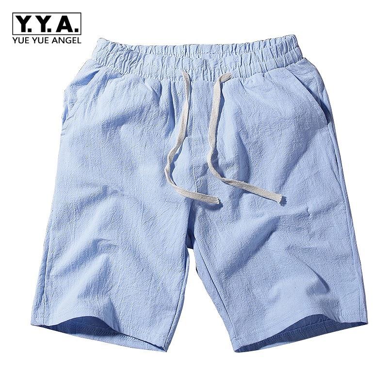 Mens Casual Cotton Linen Στερεό Χρώμα - Ανδρικός ρουχισμός - Φωτογραφία 1