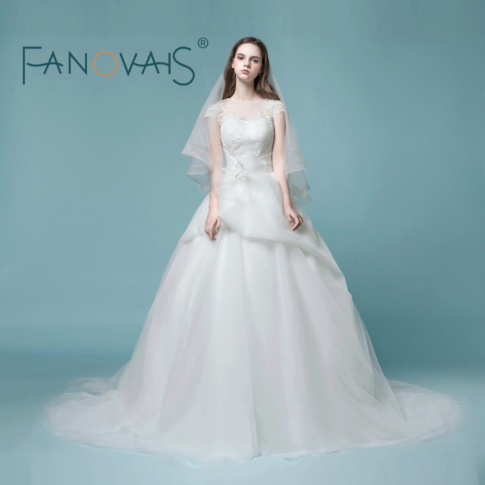 Vintage Wedding Dresses Organza Tulle Wedding Gowns Princess ...