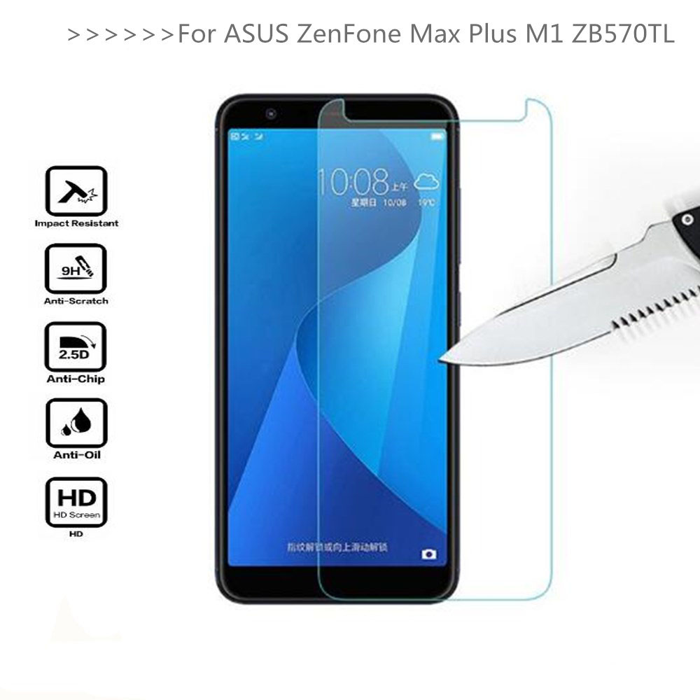 For ZB570TL X018D 9H Tempered Glass For ASUS ZenFone Max Plus M1 ZB570TL X018D Screen Protector Protective Film on ZB570TL