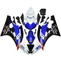 Fairings For Yamaha YZF 600 R6 06 07 YZF-R6 2006 2007 ABS Motorcycle Fairing Kit Injection Plastic Bodywork YAMALUBE Blue White