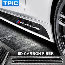 Для BMW E90 E92 E93 F20 F21 F30 F31 F32 F33 F34 F15 F10 F01 F11 F02 G30 M производительность сбоку юбка подоконник полоса для тела наклейки Стикеры