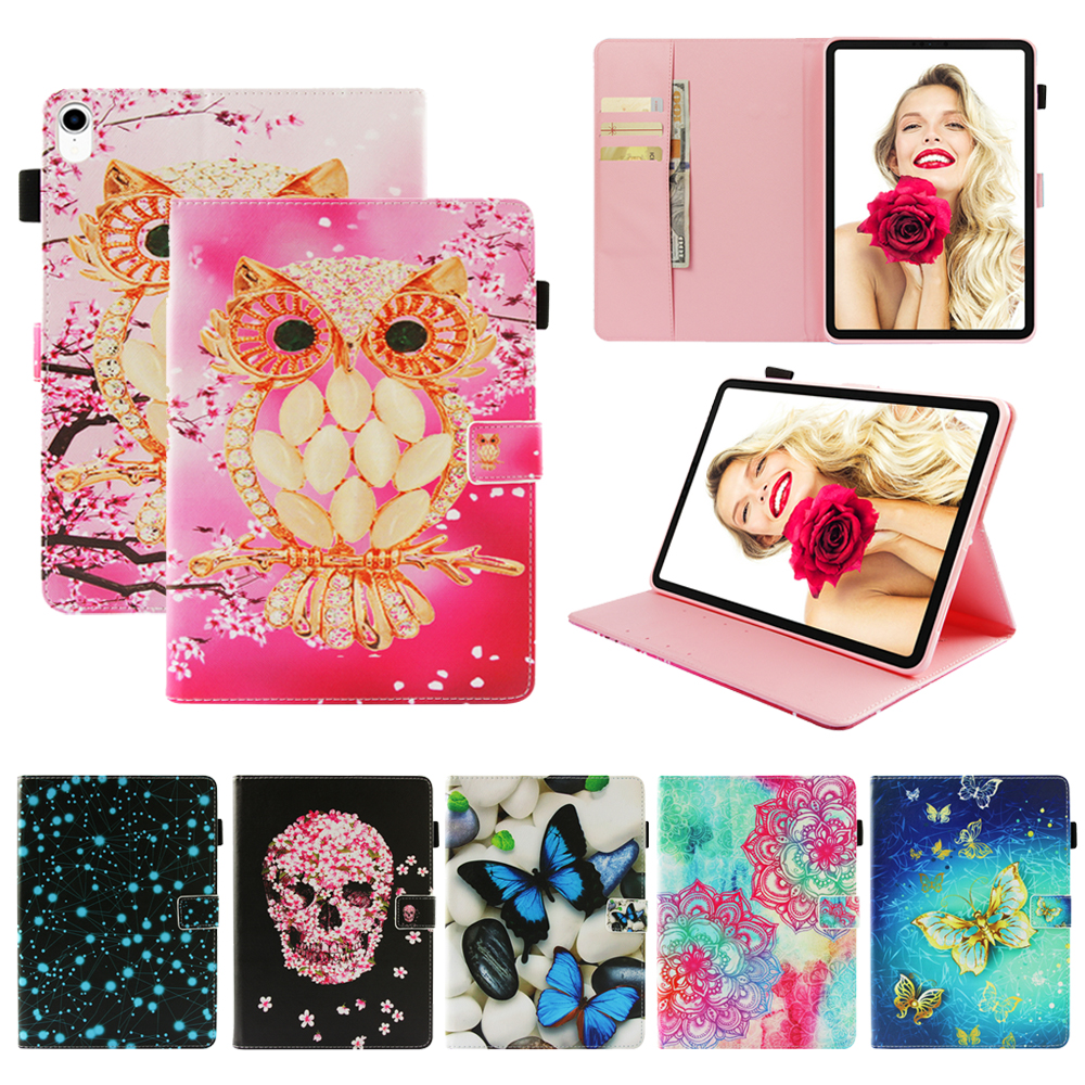 Funda Case For Apple iPad mini 1 2 3 4 Fashion 3D Printed butterfly PU Leather Flip Wallet Case Cover 7\