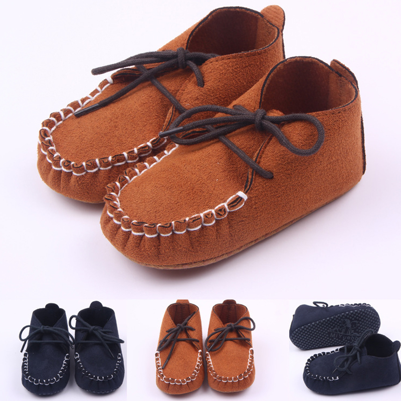 Spring Autumn 0-1-year-old Baby Boy Girl Shoes Scrub Matte Soft Baby Shoes Lace-up Bebe Non-slip Toddler Shoes Comfortable Shoes
