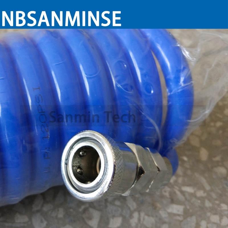 Sanmin Air Compressor Hose Tube 6M / 9M / 12M Length PU Polyurethane PU Air Compressor Hose Tube Compressor Air Tube PU Recoil стоимость