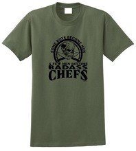 Vintage Tees Casual A Few Men Become Chefs Crew Neck Short Sleeve Mens Tee Shirts