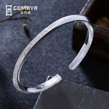 GOMAYA 100% 999 Sterling Silver Luxury Bracelet Real Solid Bangle Fine Jewelry Hot Sell Generous Trendy Party 2018 New Arrival new arrival 100% real silver bracelet man breacelets buddhism 20cm