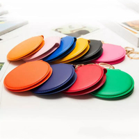20pcs Portable Double Sides PU Leather Frame Make up Mirror Mini Pocket Makeup Mirror Cosmetic Compact Mirrors For Women