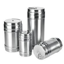Verdental Stainless Steel Dredge Salt//Sugar Spice//Pepper Shaker Seasoning Cans with Rotating Cover