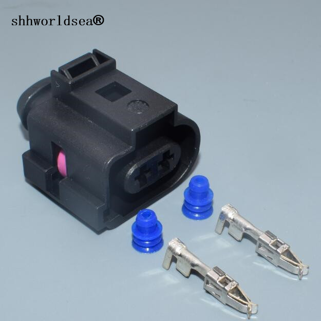 shhworldsea 2 pin 3.5MM auto sensor wiring harness plug 1J0973722A on