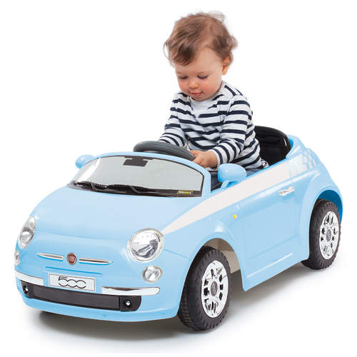 Kinderen Rijden Op Elektrische Auto S Fiat 500 1 4 Wielen