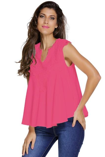 New Sexy 2017 Camisola de Verão Mulheres Moda Clubwear 5 Cores Bordado Applique V Neck Blusa Top LC25760 Plus Size S-2XL