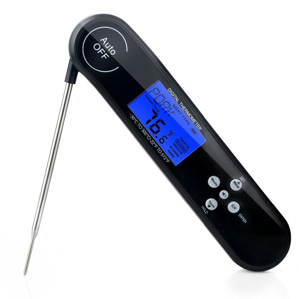 Digitale Grill Fleisch Thermometer Lebensmittel Kochen Bbq Grill Ultra Schnelle Instant Lesen Touchable Knopf Küche Thermometer Feuchtigkeit Meter Analysatoren