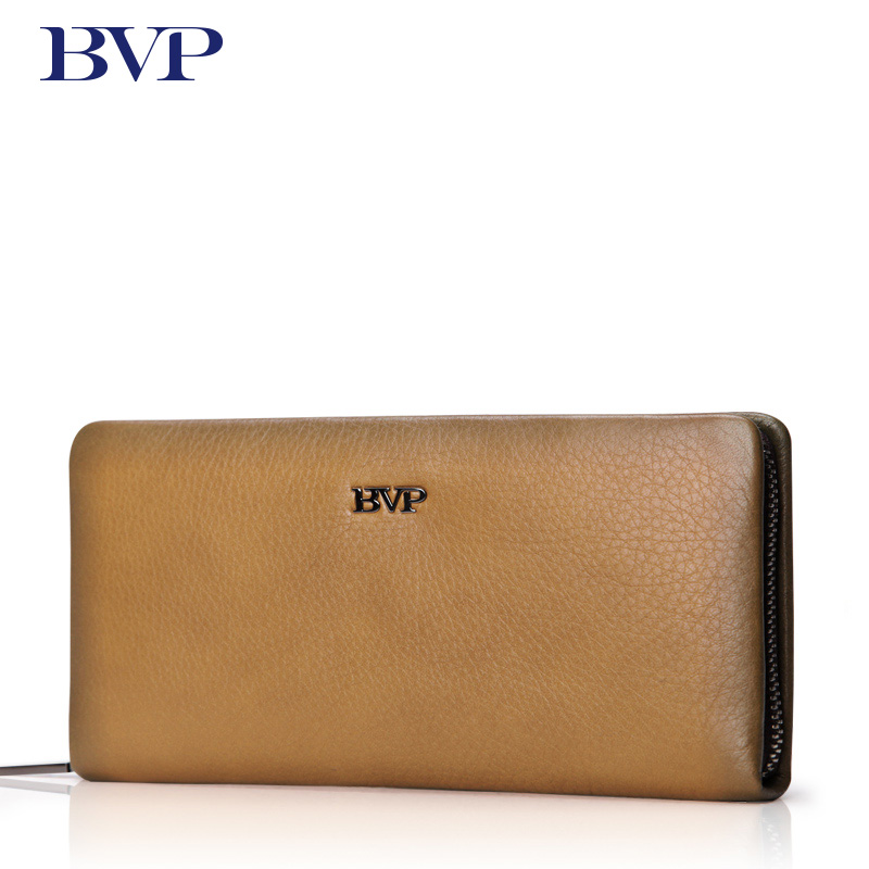BVP Brand High Quality Men Long Wallet Card Holder Genuine Leather Male Clutch Wallet Business Cow Leather Organizer Purse j50 men s purse long genuine leather clutch wallet travel passport holder id card bag fashion male phone business handbag