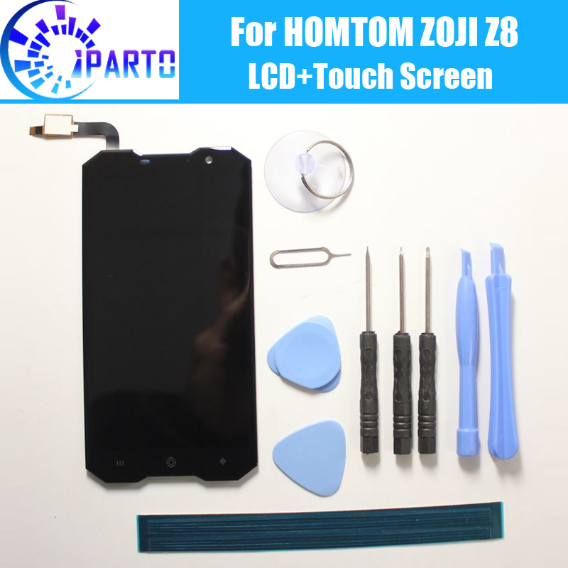 HOMTOM ZOJI Z8 LCD Display+Touch Screen 100% Original Tested LCD Digitizer Glass Panel Replacement For HOMTOM ZOJI Z8(China)