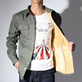 2017 spring military quality men's casual leisure army green shirt men
