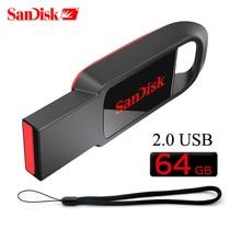 USB 2,0 SanDisk CZ61 USB флэш-накопитель 8 ГБ 128 Гб 64 ГБ высокоскоростной USB компактный флеш-накопитель Micro USB флешка 32 ГБ 16 ГБ флеш-накопитель