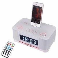 متعددة الوظائف الإرساء محطة إنذار المتحدث مع متقدمة nfc اتصال الراديو المنبه ل iphone6 6 ثانية 7 سامسونج xiaomi الهواتف