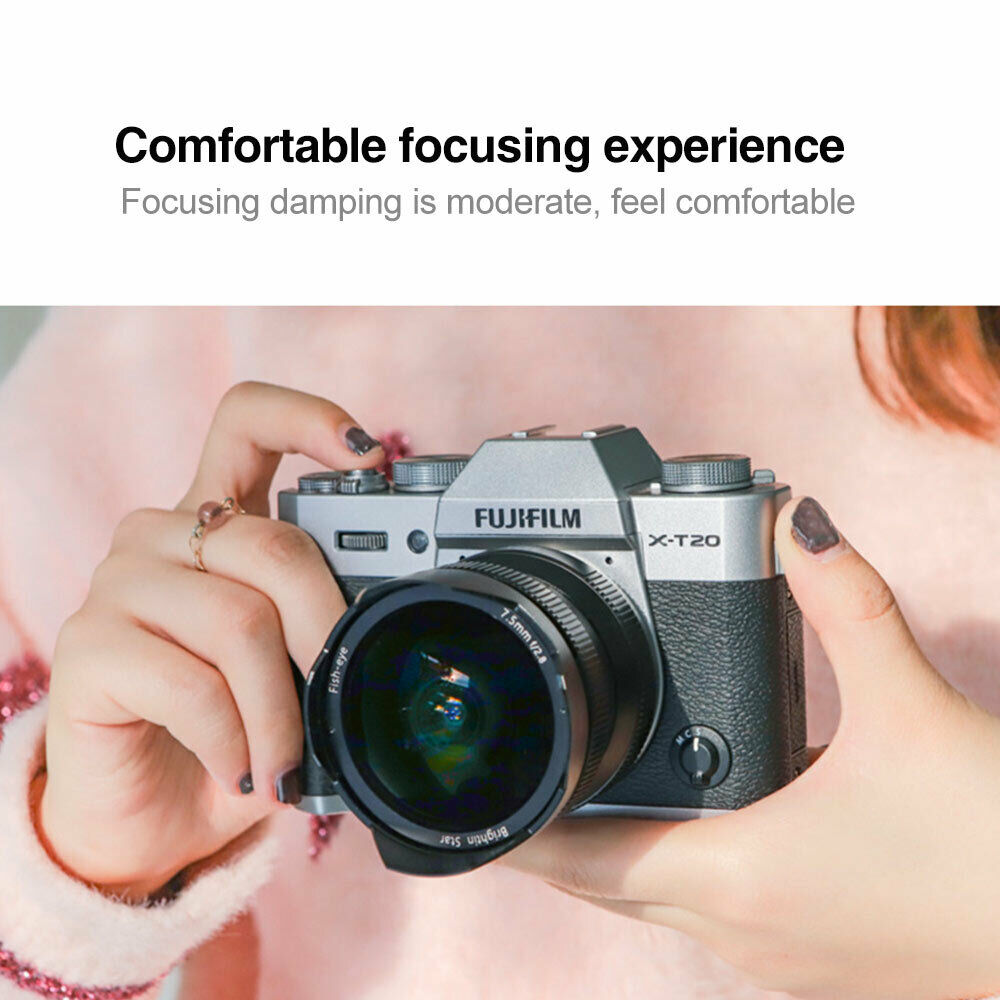 7.5mm F/2.8 Wide Angle Camera Fisheye Lens 180 Degree For Fujifilm X-T10,X-T20, X-Pro2,X-Pro1,X-A1,X-A2,X-E2,X-E1,X-M1