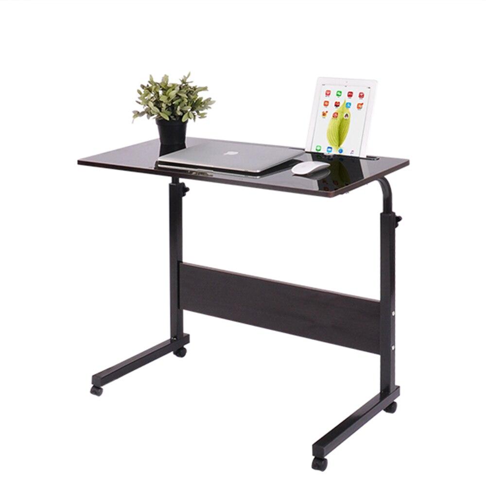 2018 faltbare Computer Tisch Einstellbar Tragbare Laptop Schreibtisch 80*40CM Drehen Laptop Bett Tisch kann Angehoben Stehen schreibtisch