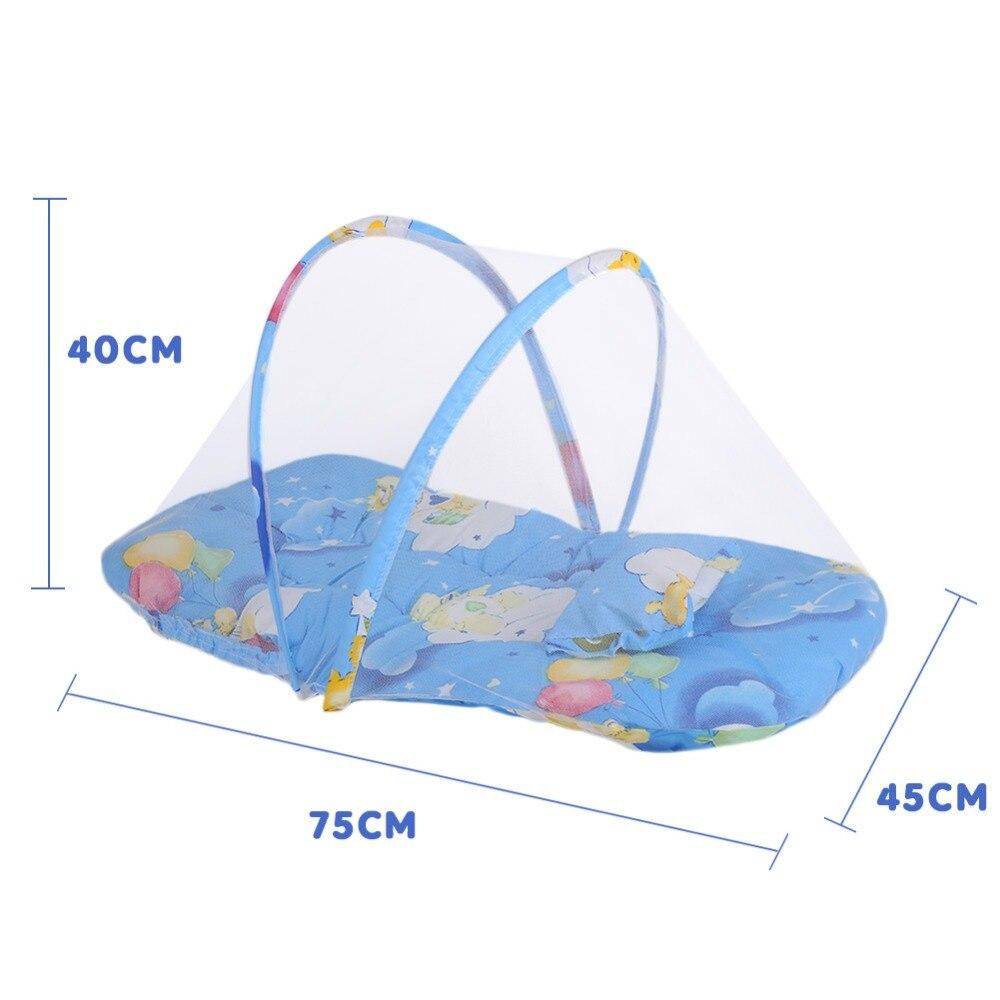 Baby Cartoon Pasgeboren Klamboe Zomer Dag 75 Cm Lengte 45 Cm Breedte Katoen Gewatteerde Matras Kussen Tent Opvouwbaar Rijk En Prachtig