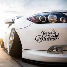 クリスチャンイエス車のステッカーイエスは私アンカー車ステッカークリスチャンイエス反射防水スタイリッシュなビニールアップリケ