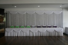 White Wedding Stage Backdrop 10ft * 20ft