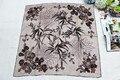 100% шелк женщин квадратный шарф, материал : саржевого шелковый размер : 88 x 88, Thickness14mm сливы flowerOrchid бамбука хризантемы