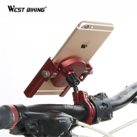 WEST BIKING Universal MTB Bikes Phone Stand Aluminum Bicycle Handlebar GPS Motorcycle Cycling Mount Holder For