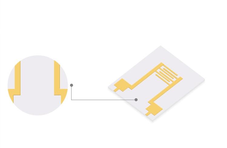 Fork-finger electrode IDE alumina ceramic circuit board PCB laboratory electrode environment monitoring intelligent sensor chip