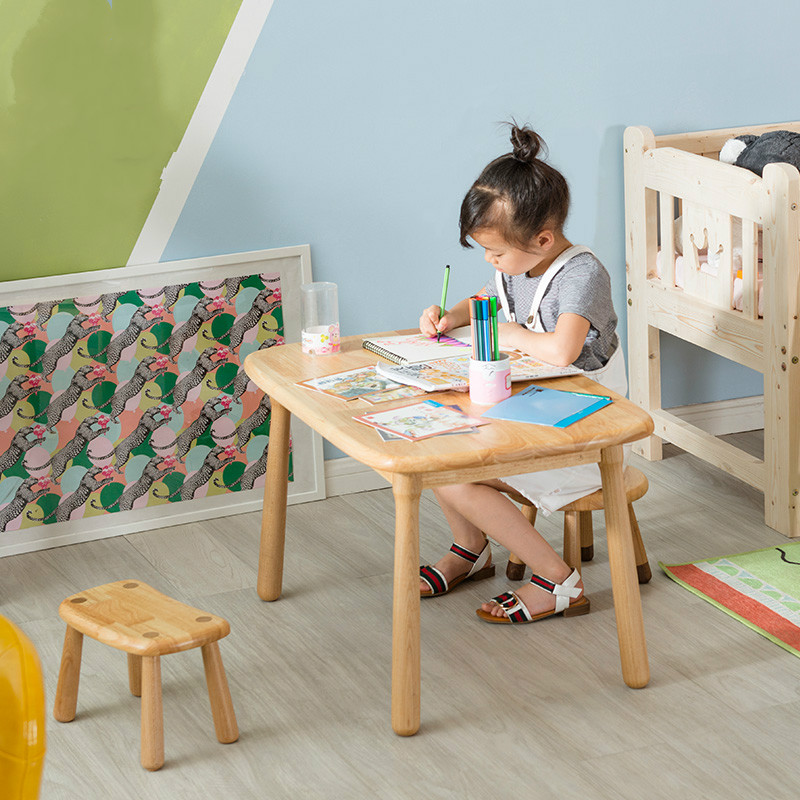 Solid wood children's study table and chair set kindergarten game table primary school home desk baby solid wood writing desk
