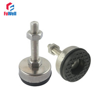 4pcs M10x100mm Adjustable Foot Cups 43mm Diameter 304Stainless Non Skid Base M10 Thread 100mm Length Articulated