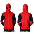 2017 New Deadpool Hoodie Marvel Comic Wade Wilson Hooded Zipper Outerwear Jacket Winter 3D Hoodies Anime Characters Hoodies