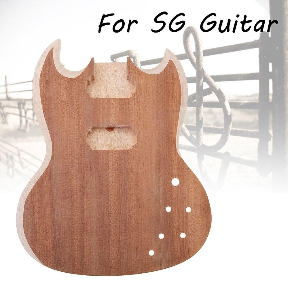 SENRHY bricolage Unfinished Tilleul Guitare Corps Guitare Pièces Pour SG Style 22 Frettes Guitare
