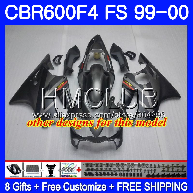 Carrosserie Pour HONDA CBR600F4 CBR600 F 4 RR CBR600 F4 99 00 60HM17 CBR 600F4 CBR 600 FS Chaude blanc blk CBR 600 F4 1999 2000 Carénage - 2