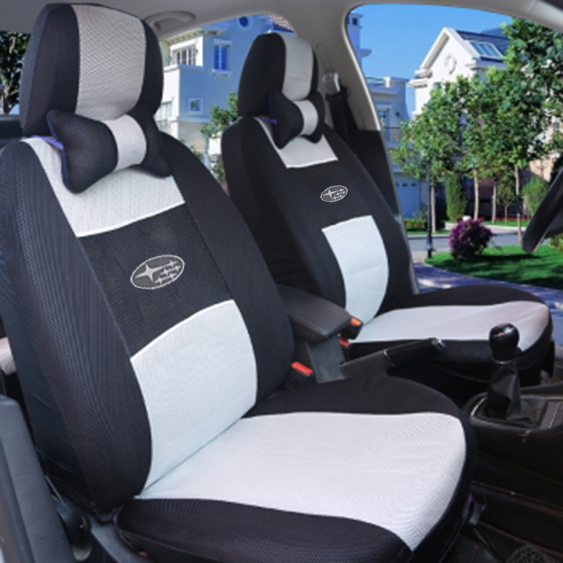 Car Seat Cover Embroidery Logo FrontRear Complete 5 Set For SUBA RU LEGACY IMPREZA Dedicated Wraparound In Automobiles Covers From