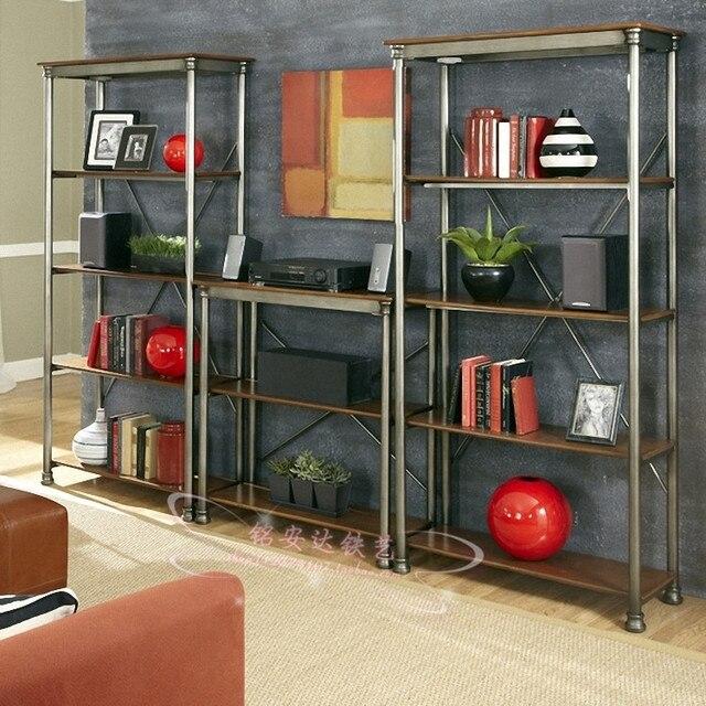 American rural retro iron floor racks shelf display shelves furniture custom grids New Cabinet