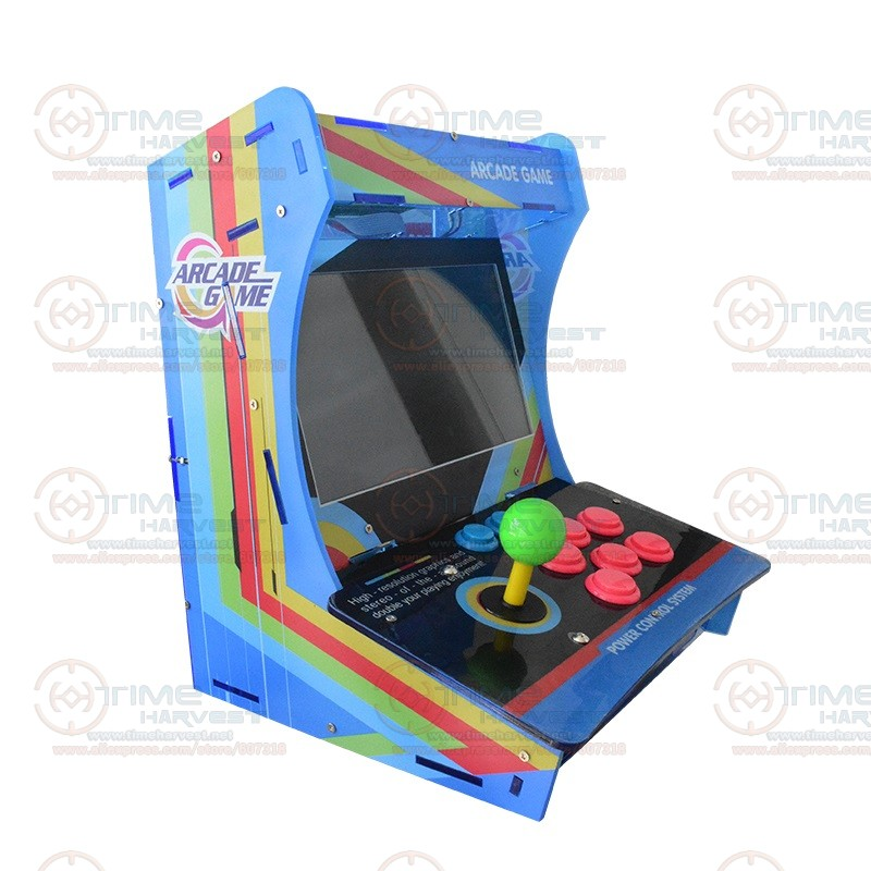 10.4 LCD Mini Table Top Acrylic Cabinet With New Game Board 999 in 1 Jamma Arcade Console 10.4 inch Arcade game machine 22 inch lcd desk arcade game machine with 645 in 1 game board 2 player stereo speakers amplifier horizontal display