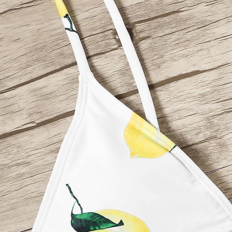 Lemon Print Bikinis 7