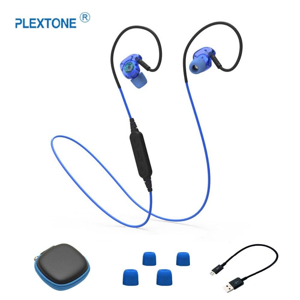 PLEXTONE BX240 Étanche Sport Bluetooth Écouteur Basse Stéréo Écouteurs Avec Microphone Pour Mobile Téléphone
